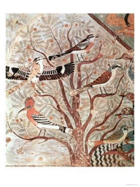 MPM-Birds in the Acacia bush, tomb of Khnumhotep III, Beni Hassan, ca. 1878 BC